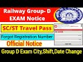 Railway Group- D SC/ST Travel Pass Download & Forgot registration number
