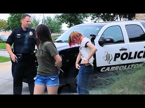 Two Girls Harassed with Drug Search Fail.  Profiling Young Drivers