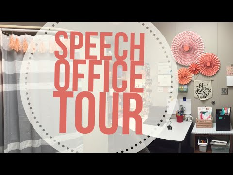 Speech Therapy Office Tour 2016