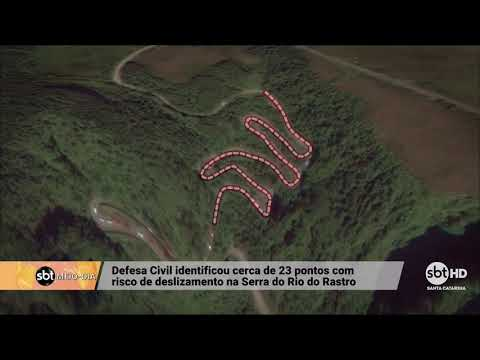 Risco de deslizamento na Serra do Rio do Rastro