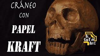 Cráneo con papel Kraft Decartón parte I