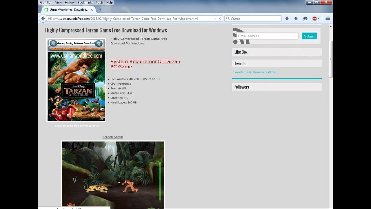 Disney's tarzan demo free download.