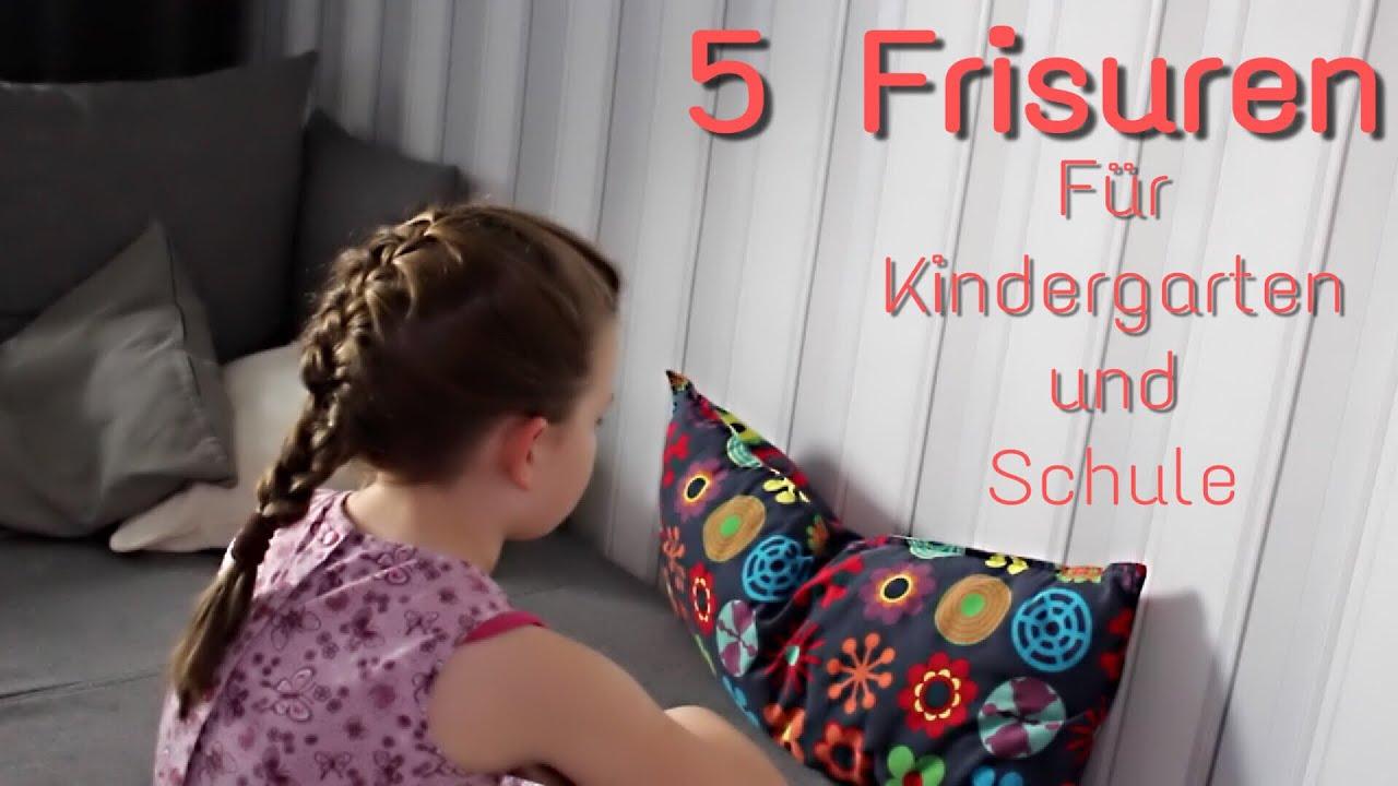 5 Schnelle Frisuren Für Kindergarten Und Schule Mrs Family Youtube