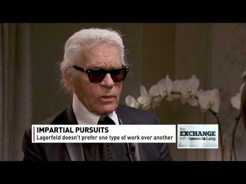 Karl Lagerfeld On The Exchange With Amanda Lang