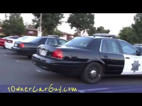 Cop Breaking The Law Government waste Cops Illegal Police Car  In Bankrupt California ?