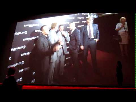 The Expendables 2: AVP Red Carpet Grand Rex Paris 2012