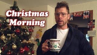 DAD ON CHRISTMAS MORNING