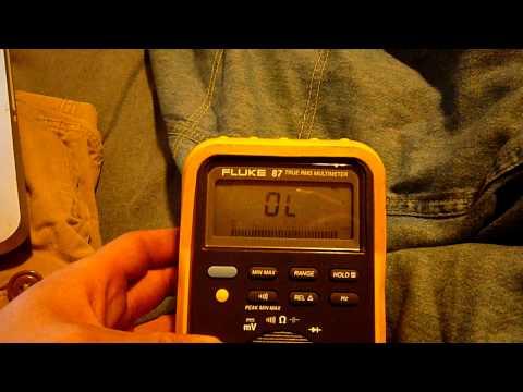 Fluke 87 Multimeter Problem.How can I solve the blinking?