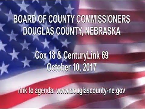 Board of County Commissioners Douglas County Nebraska, October 10, 2017