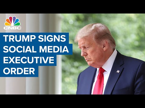 President Trump Signs Social Media Executive Order