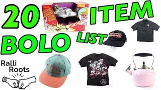 20 Item eBay Reseller BOLO LIST | What to sell on eBay 2018
