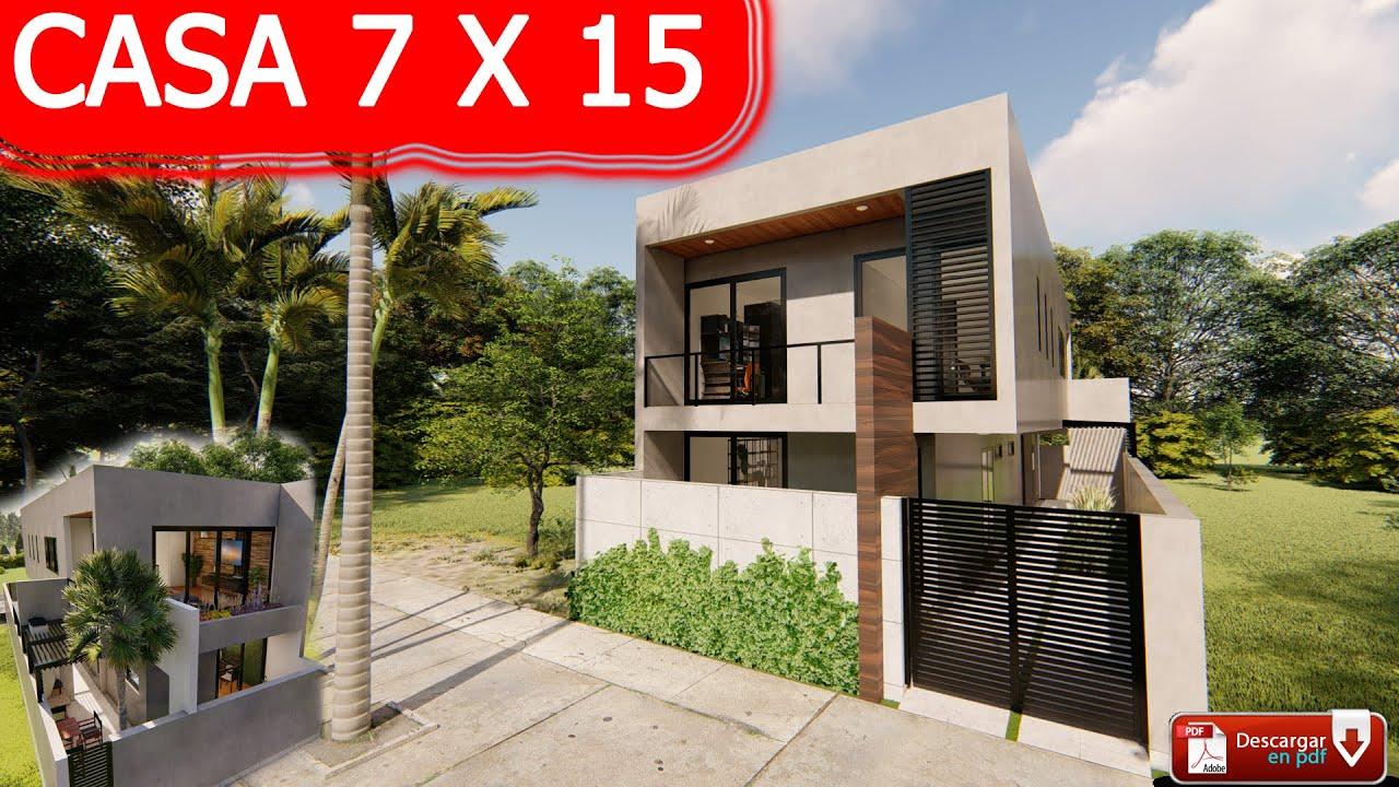 Casa 7 x 15 m / House 7 x 15 m / Estilo Minimalista