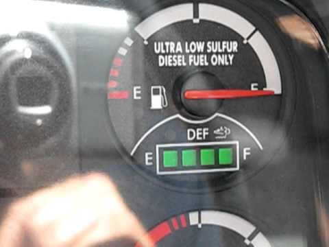 Flashing Red Light >> DEF gauge - YouTube