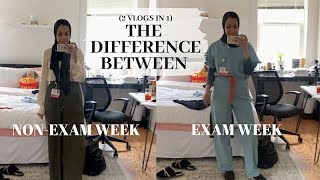 EXAM WEEK VS NON-EXAM WEEK: Follow me around Med School