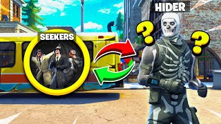 FORTNITE *NEW* REVERSE HIDE & SEEK! HIDING in THE GOD SPOT... (Tilted Towers Battle Royale)