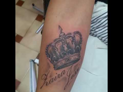 Tattoo Corona Con Nombres Youtube