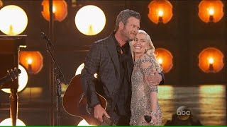 Blake Shelton and Gwen Stefani with Go Ahead And Break My Heart