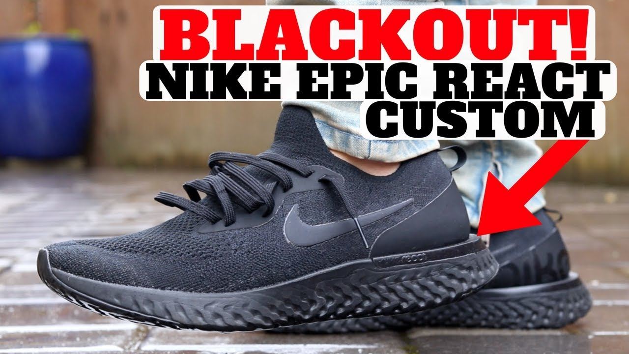 save off 18090 991de Nike Epic React Flyknit Custom In 3 Easy Steps!