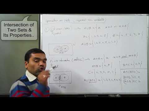 Set Theory - Union, Intersection, Difference & Compliment operation on Sets in Hindi(Lecture 4)
