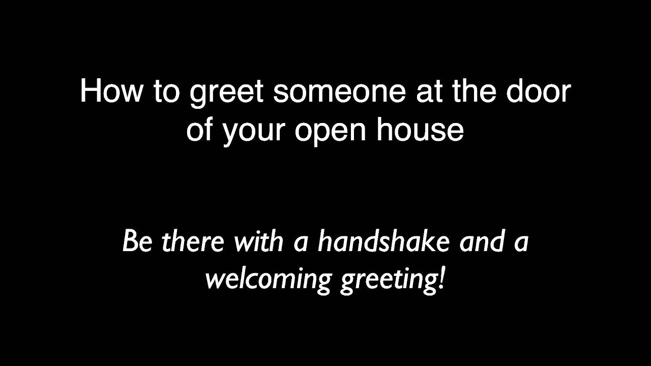 How To Greet Someone At The Door Of Your Masonic Open House Youtube