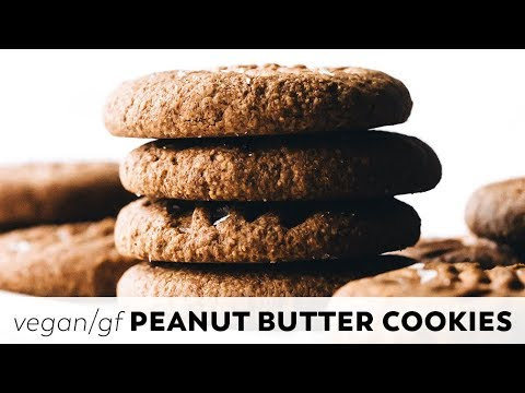 Easy Vegan Peanut Butter Cookies // Gluten-free, One-bowl