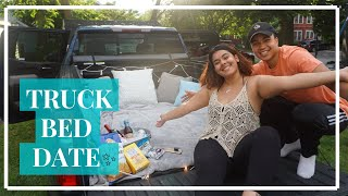 WE WENT ON A DATE IN THE BACK OF A TRUCK!!!