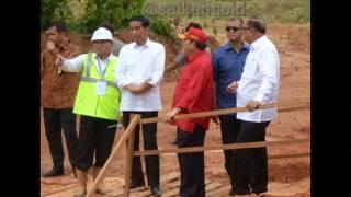 Presiden Jokowi Tinjau Jembatan Tayan di Kalimantan Barat