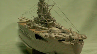 Papercraft IJN Battleship YAMATO  空き箱で作る、戦艦大和