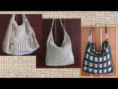 Связанные спицами сумки