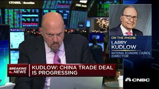 Larry Kudlow describes US-China trade talks as constructive but 'intense'