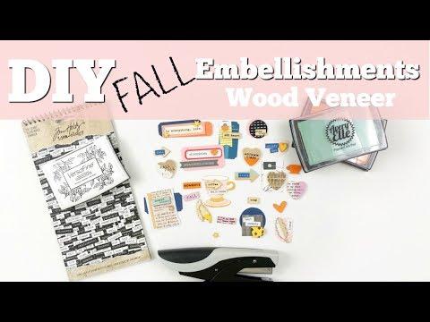 DIY (Fall) Embellishments | Wood Veneer