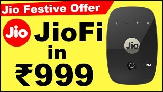 Jio Festive Offer   Reliance JioFi hotspot dongle available for just Rs 999