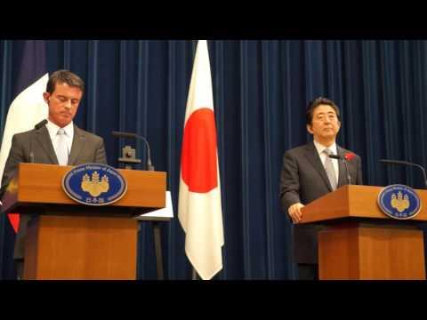 Réveil-FM: Conférence de presse conjointe Shinzo Abe et Manuel Valls à Kantei