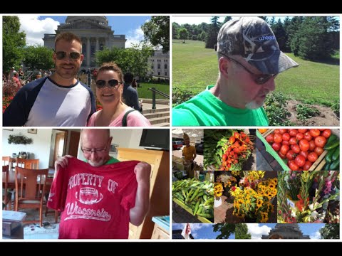 Madison Farmers Market, Garden Update, Badger Haul! Saturday July 25, 2015