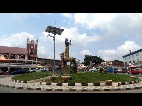 Walking in Adum-Kumasi, Ghana.