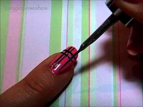 nail art for beginners easy plaid design  youtube