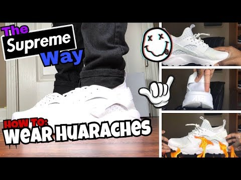 2de2d64f386 HOW TO WEAR YOUR HUARACHES (OUTFITS)!! MODELED 3 DIFFERENT JEANS!! PICK  ONE!!