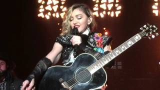 Madonna speech, who's that girl, Spanish lesson, January 28, 2016 Puerto Rico