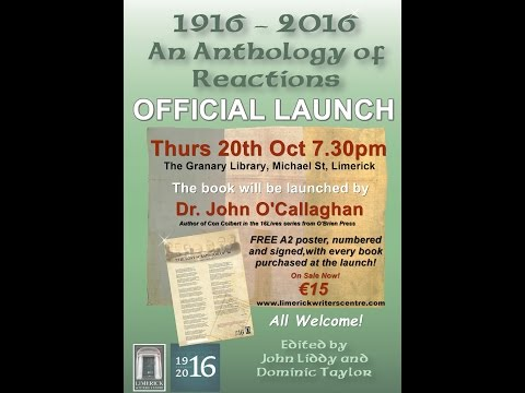 Launch of 1916-2016: An Anthology of Reactions Limerick City Library 20th Oct 2016