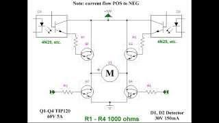All Npn Transistor H-bridge Motor Control
