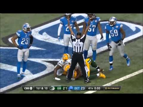 HAIL MARY ENDING TO PACKERS-LIONS GAME 12/3/2015