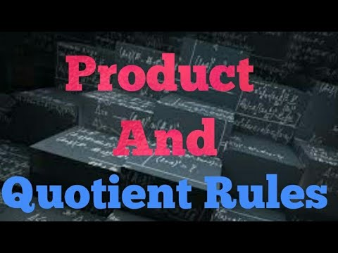 Product and Quotient Rules in Hindi [Business Mathematics] BBA AND BCOM