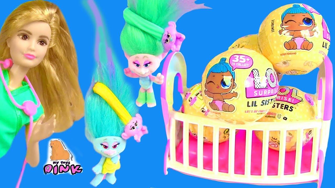#Куклы ЛОЛ Пупсики - ДЕТИ БАРБИ И ДЕТИ ТРОЛЛЕЙ! Барби ...
