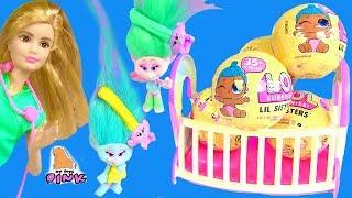 #Ляльки ЛОЛ Пупсики - ДІТИ БАРБІ І ДІТИ ТРОЛІВ! Барбі Мультики! Тролі Мультик з Іграшками