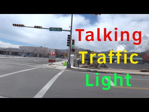 MUST WATCH: Talking Traffic Light @ 15th St  & Central Avenue in Los Alamos, NM