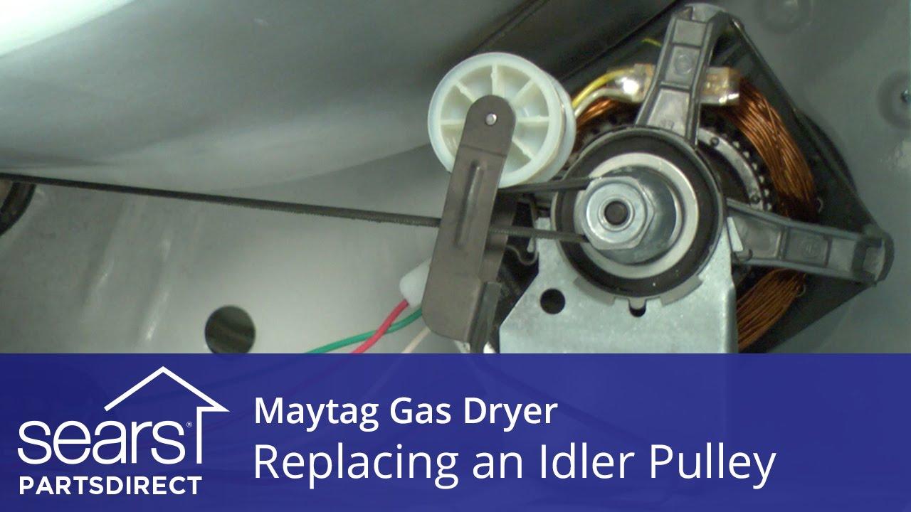 How To Replace A Maytag Gas Dryer Idler Pulley Youtube