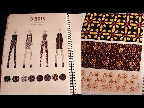 BA Womenswear (Fashion and Textiles) Sketchbook Tour (2nd year, First class degree)