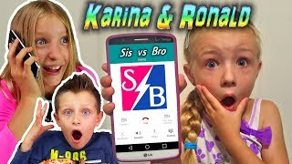 Calling Sis vs Bro! Karina and Ronald *OMG* They Answered! Cake Challenge (Skit)