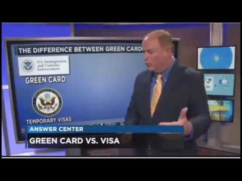 The difference between Green Cards and Visas in United States