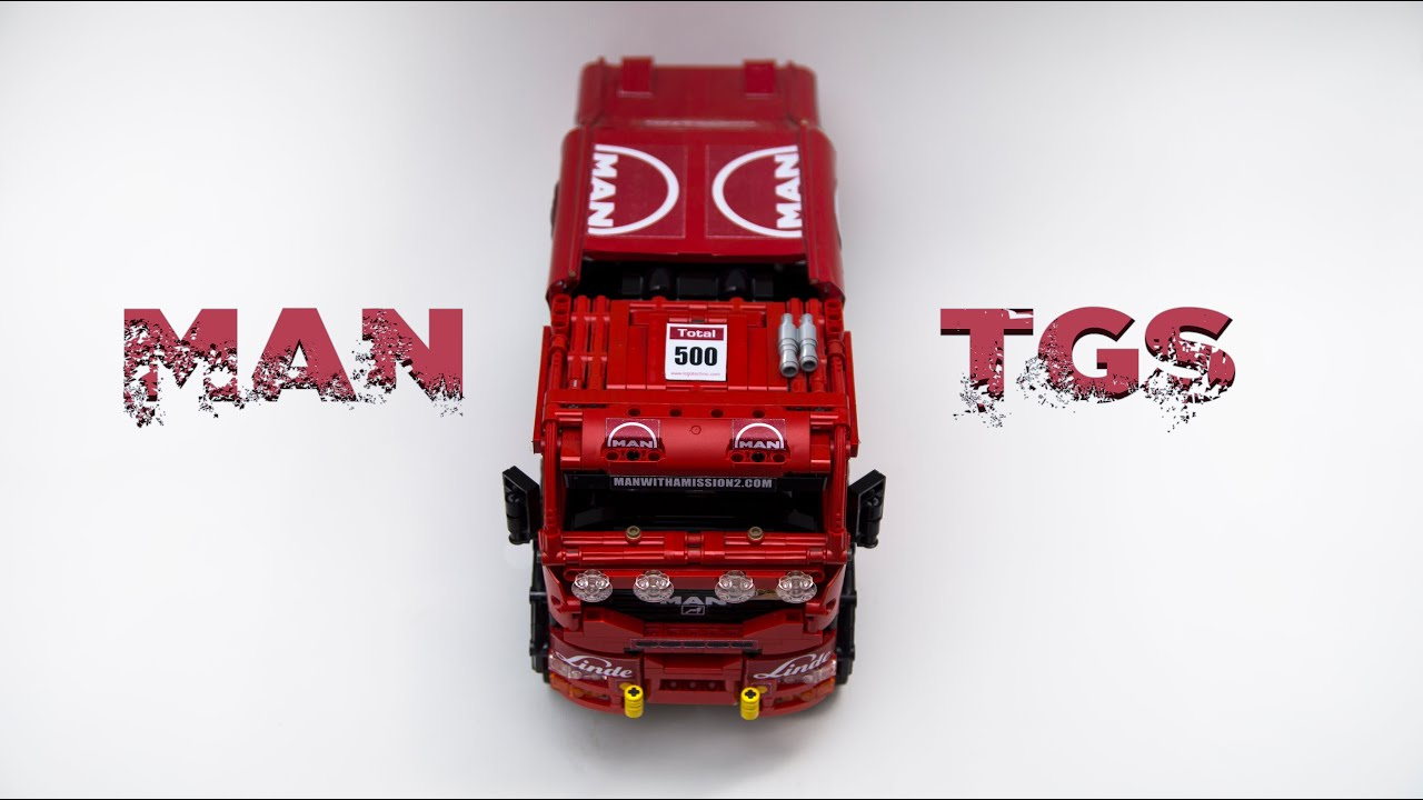 man tgs dakar truck in lego technic youtube. Black Bedroom Furniture Sets. Home Design Ideas